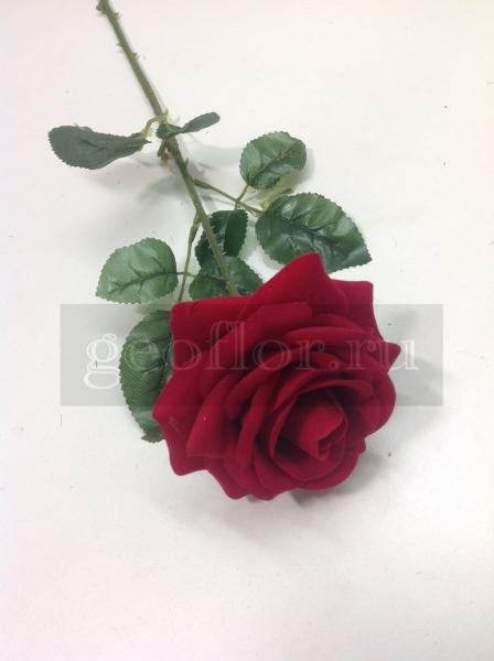 Одиночная роза бархатная