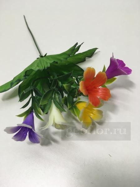 Букет колокольчиков разноцветных, пластик, 5 г