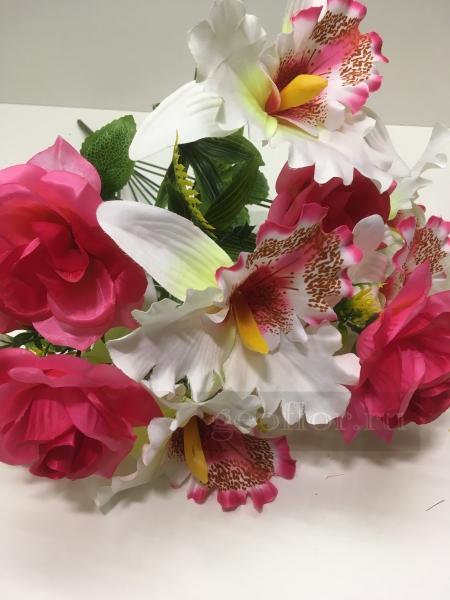 Букет роз и орхидей, композиция, 11 г