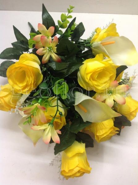 Букет роз и калл, композиция, 18 в