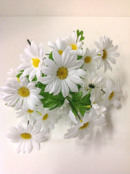 Букет ромашек кустовых белых, 7 в