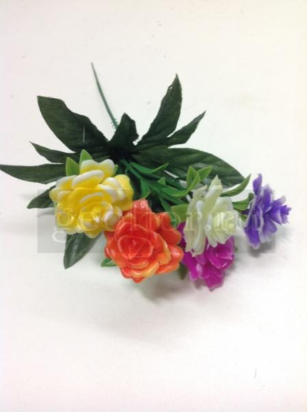 Букет роз разноцветных, пластик, 5 г