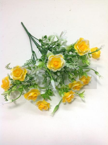 Букет роз, пластик, 5 в, 10 г