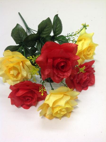 Букет роз двухцветных, 6 г