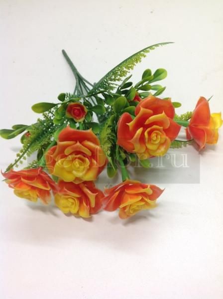 Букет роз с бутонами, пластик, 7 г