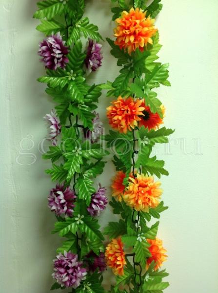 Гирлянда с хризантемой