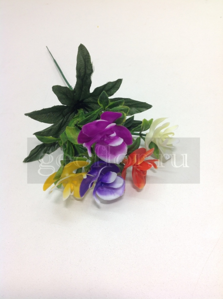 Букет орхидей разноцветных, пластик, 5 г