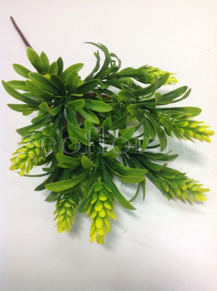Букет листьев с шишками, 5 в, пластик