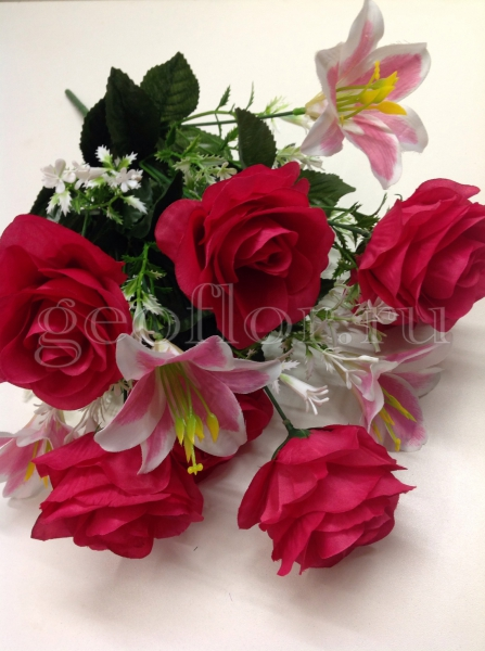 Букет роз и лилий, 11 в