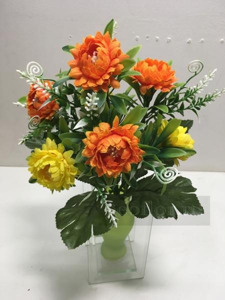 Букет хризантем двухцветных, 7 г