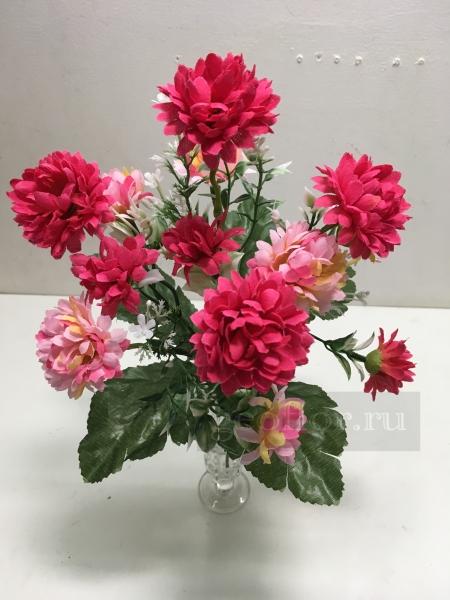 Букет хризантем двухцветных, 7 в