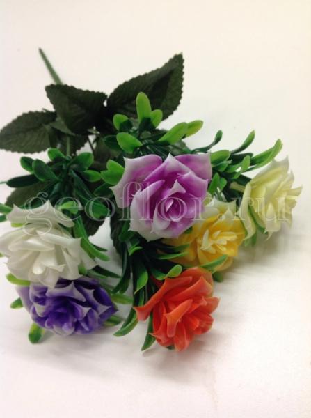 Букет роз разноцветных, пластик, 6 г