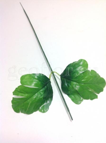 Ножка для хризантемы, 2 листа, 45 см