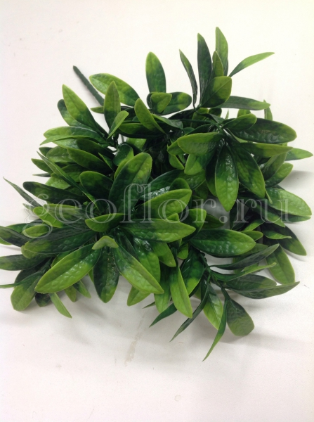 Букет листьев зеленых, пластик, 5 в
