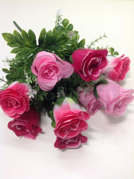Букет роз бутонов разноцветных, 9 г