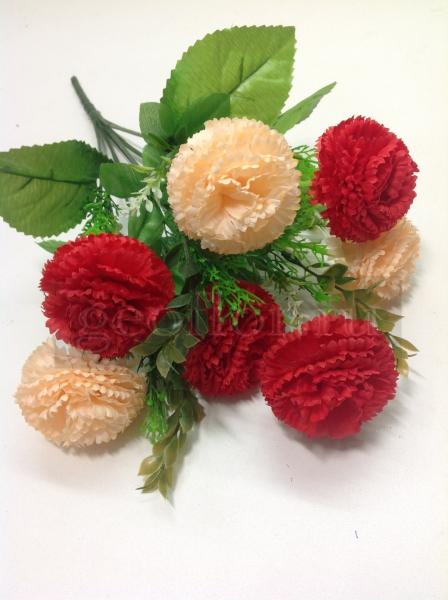 Букет хризантем двухцветных, 10 в
