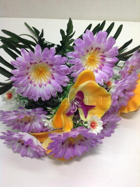Букет гербер с орхидеями, 13 г