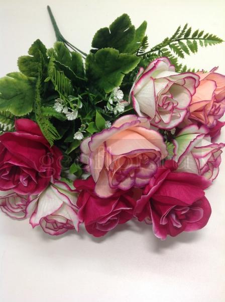 Букет роз двухцветных, 12 г