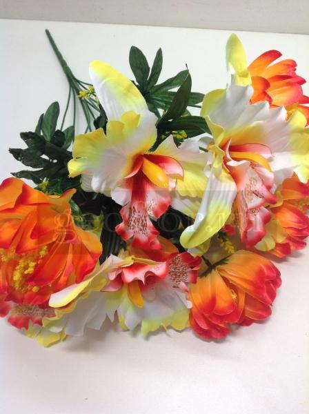 Букет хризантем и орхидей, композиция, 11 г
